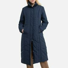 La Redoute Navy Long Padded Coat Size 22 Quilted Jacket New Tags RRP £85
