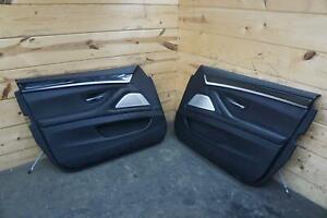 Set of 2 Front Left Right Door Trim Panel Black Merino BMW F10 5-Series 2013-16