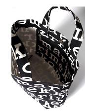 Marimekko LOGO Veronika tote bag purse, from  Finland, NWT black white