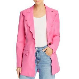 Acler Womens Aslo Linen Blend Scalloped Suit Separate Blazer Jacket BHFO 8645