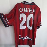 ENGLAND #20 OWEN  FOOTBALL SOCCER  SHIRT JERSEY SIZE XL