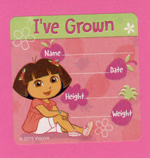 15 Dora the Explorer  I've Grown Height and Weight - Large Stickers
