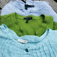 Lot Of 3 Eileen Fisher Woman Size 1X Tops Blouses