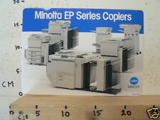 STICKER,DECAL MINOLTA EP SERIES COPIERS JAPAN LARGE