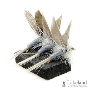 3, 6 or 12x Blue Dun Dry Trout Flies for Fly Fishing