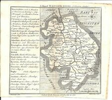 Antique map, Warwickshire .