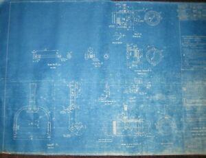 Vintage Blueprint US Navy Yard Mare Island CA