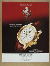 1996 Girard-Perregaux Ferrari Split Second Chronograph photo vintage print Ad
