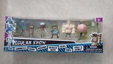 Regular Show Cartoon Network Mini Figures 7 PACK RARE,HIGH 5 GHOST,MUSCLE MAN