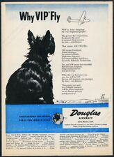 1944 Scottie dog Scottish Terrier art Douglas Aircraft plane vintage print ad
