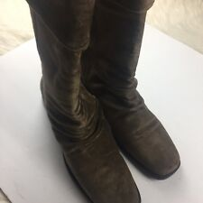"Markon women size 10M soft suede boots mid calf ""simone"" style brown"