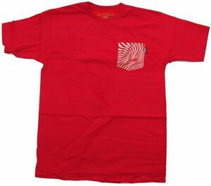 SPITFIRE WHEELS - Skateboard Tee Shirt - Large / Red - Classic Pocket T