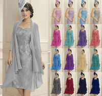 Mother of the Bride Chiffon Jackets Woman Formal Evening loose coats Size 6-22+