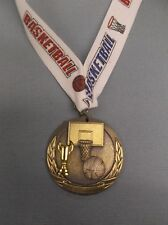 "gold cup Basketball 2"" diameter medal theme drape"