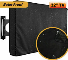 """32"""" TV Cover LCD LED Set Waterproof Television Protector Outdoor Black 32inch HM"""