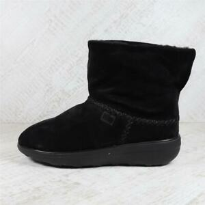Womens Fitflop Mukluk Shorty 2 Black Boots (AGF1) RRP £119.99