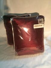 "2 Tabitha Silk Rich Panels w/ Attached Valence 42"" X 95"" Burgundy Drapes Curtain"