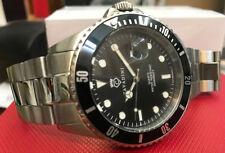 Advantage Diver's Quartz Watch 30 Bar Solid Steel Japan Timepiece with Magnifier