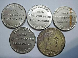 Romania (e76) - telephone token 1930-1941 - 4 pcs., 2000 Lei 1946