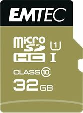 Microsdhc 32go EMTEC Adapter Cl10 Gold Uhs-i 85mb/s - sous blister
