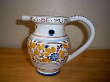 Bevi Se Puoi Flowers Puzzle Jug Pitcher Terra Di Siena Italy Drink If you Can