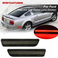 For 2005-2009 Ford Mustang LED Side Marker Lamp Smoked Lens Red Rear 2PCS