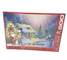 EuroGraphics Home For Christmas Jigsaw Puzzle 500 Pieces NEW Santa Snowman Tree
