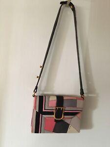 Vintage Emilio Pucci Shoulder Bag . MidCentury Modern Print Purse