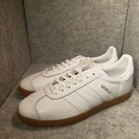 *New* Men Adidas Gazelle BD7479 White Gum Leather Sneaker Size 12