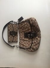 "Coach Should Bag Purse with Brown/Tan ""C"" PatternA1280-F17093 with Matching Wall"