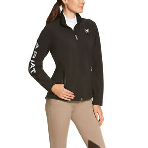 Ariat® Ladies New Team Black Softshell Full-Zip Jacket 10019206