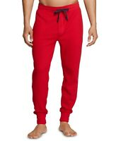 New Tommy Hilfiger Waffle Knit Thermal Jogger Pants RED Men's Size Medium