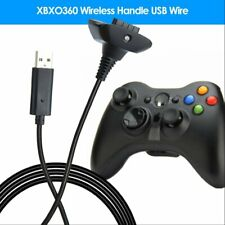 Black USB Charging Cable Wire Replacement Charger For Xbox 360 Controller RF