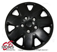 "One Set (4pcs) of Matte Black 17 inch Rim Wheel Skin Cover Hubcap 17"" Style#026"