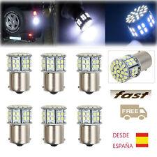 10/6PCS Luz de Marcha Atrás BA15S 1156 50SMD LED Blanco Freno  Bombilla Lámpara