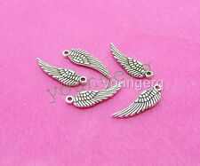 20x Tibetan Silver Small Angel Wing Charm Pendant 12mm Jewelry Making
