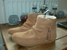 Peacocks Womens Tan Faux Fur Lined Boots UK size 8 New with Tags
