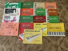 New ListingLot Of 17 New Piano Method Books And 17 Single Sheets From Robert Pace