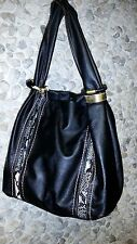 Black with snakeskin print woman's handbag only $15.99!
