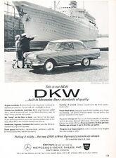 1962 DKW Junior Deluxe Auto Union Audi Original Advertisement Car Print Ad J527
