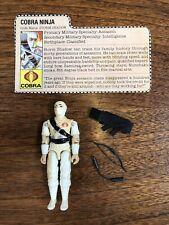 Vintage GI Joe Action Figure ARAH Storm Shadow w/Accessories & File Card 1984