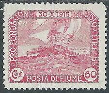 1919 FIUME FONDAZIONE STUDIO 60 CENT MH * - F14-2