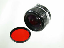 NIKON Nikkor 2,8/28 28 28mm F2,8 2,8 NON AI classic iconic KULT red filter /18K