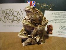 Harmony Kingdom All Hopped Up Frog Pile UK Made Box Figurine
