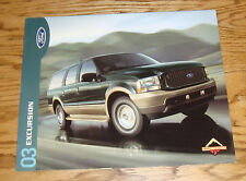 Original 2003 Ford Excursion Sales Brochure 03 XLT Eddie Bauer Limited 2nd