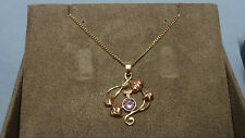 "Welsh Clogau 9ct Yellow & Rose Gold Love Vine Pendant 17"" Chain RRP £750"