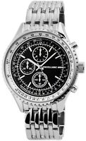 Excellanc Herrenuhr Schwarz Analog Chrono-Look Metall Armbanduhr X2800045001