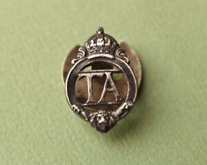 Vintage TA Territorial Army Lapel badge military Vintage Number 256811