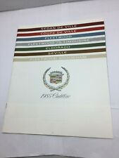 1985 Cadillac BIG Car Sales Brochure Catalog Eldorado DeVille Coupe Fleetwood
