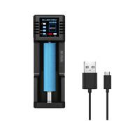 N1+ Single Slot USB Battery Charger /Output For Li-ion Ni-MH 18650 26650 RCR123